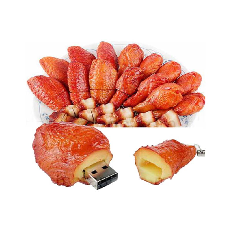 Latest Gift PVC Chicken Legs Shape USB Thumb Drive 8GB 16GB