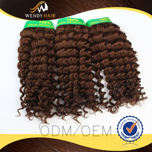 synthetic kinky afro hair weave,noble gold synthetic hair