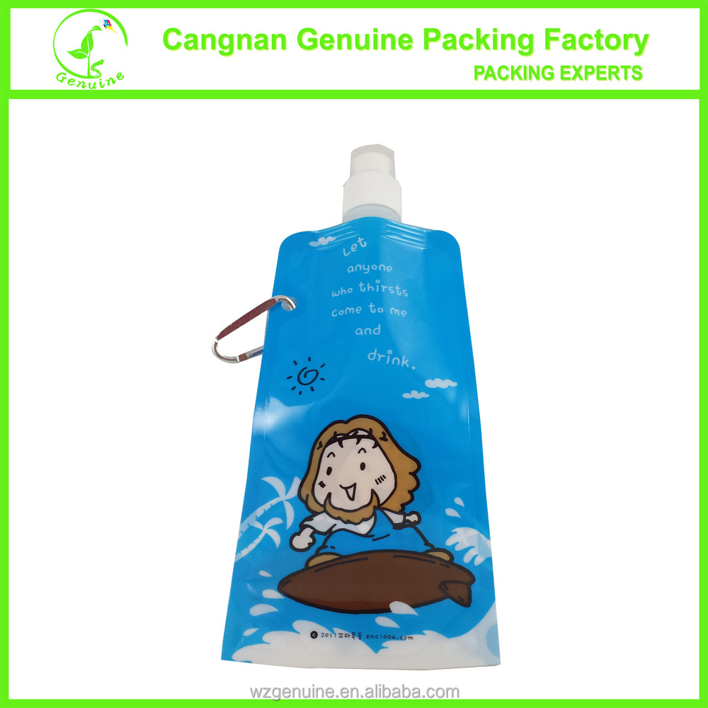 330ml unique washable foldable water pouch/water bottle