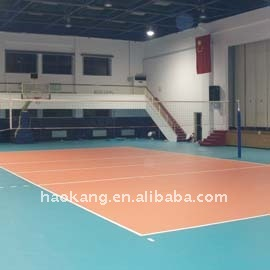 portable Volleyball Court PVC sports flooring/plastic covering/vinyl roll