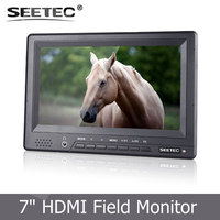 DC12V powered 7 inch on camera lcd tft display hd ypbpr monitor with HDMI input Hot Shoe Mount cloth sunshade