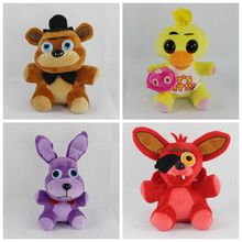 "five Nights At Freddy's FNAF Freddy Bonnie Chica Foxy Plush Toys Doll 10"" for Kids"