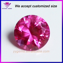 Wholesale Faceted Cut Round Red Corundum Synthetic Ruby On Sale