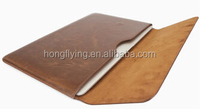 "Brown PU sleeve for iPad Pro 12.9"" with magnet clip"