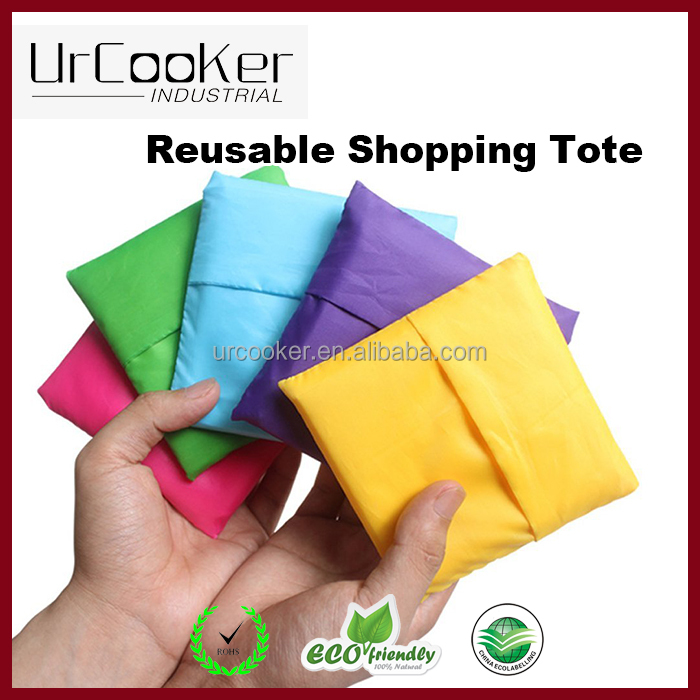 Promotion Custom reusable folding polyester shopping bag