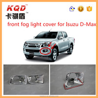 car decoration accessories Chromed Front fog light cover/frog light trims for ISUZUD-MAX 2012