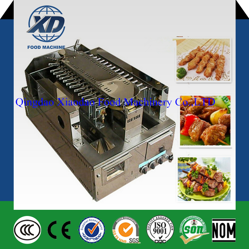 Automatic kebab barbecue making machine, rotary yakitori grill machine, rotating barbecue machine