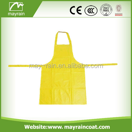 2017 cheap customed 100% PVC kids drawing apron and cooking apron for 3-6 age