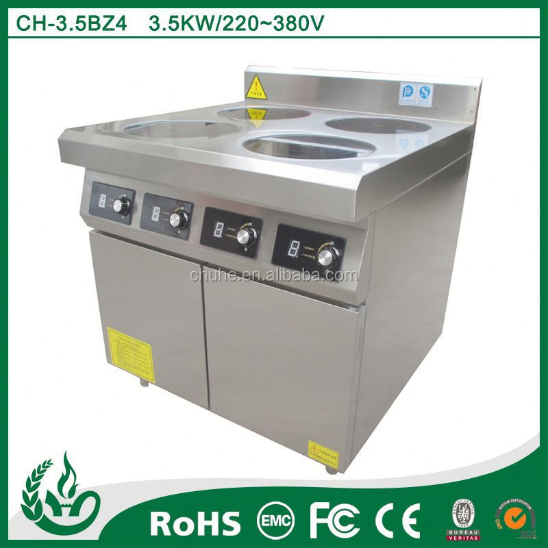 Commercial 4 burner induction table top chinese cooking range