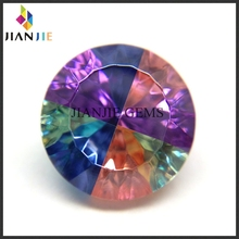 Factory Wholesale Price Pretty Four Mixed Colors CZ Synthetic Gemstone Round Cubic Zirconia