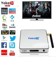 O-line skillful manufacture YOKATV KB2 Octa-core chip Amlogic S912 Android 6.0 desi tv box