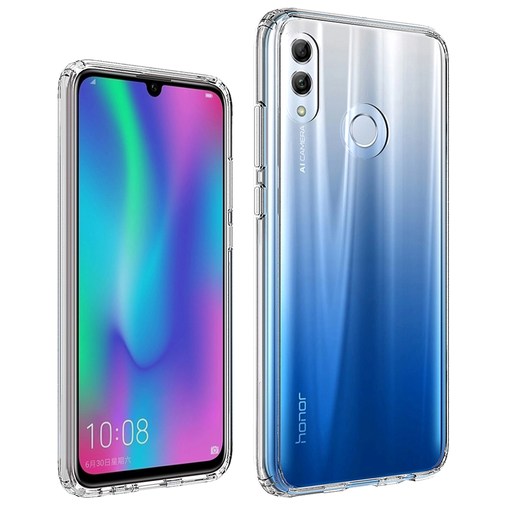 HD Clear Hard PC Shell Cover Soft Tpu Corner Side Bumper Protective Mobile Phone Case for Huawei Honor <strong>10</strong> Lite/<strong>P</strong> Smart 2019