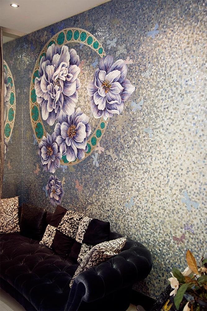 자연 대리석 모자이크 타일 벽 메달리온 사진 디자인-모자이크 ...