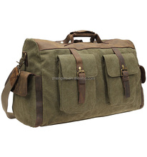 Iblue D006 Military Army Green Canvas Travel Duffle Bag Mens