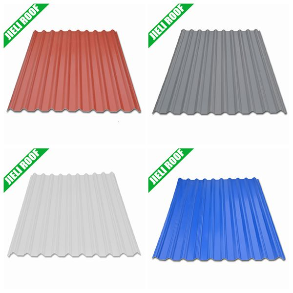 Colored corrugated plastic roofing sheet