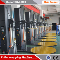 Automatic top press stretch wrapping Machine for light goods
