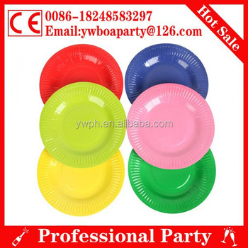 cheap colorful paper plate