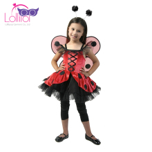 China factory customized childrens animal fancy dress ladybug costumes cosplay
