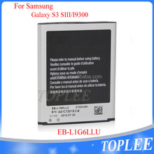 2016 China manufacture supplier high capacity gb/t18287 2013 mobile phone battery for Samsung Galaxy S3 I9300 EB-L1G6LLU