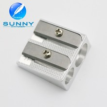 2 holes Silver Metal pencil Sharpener for Student