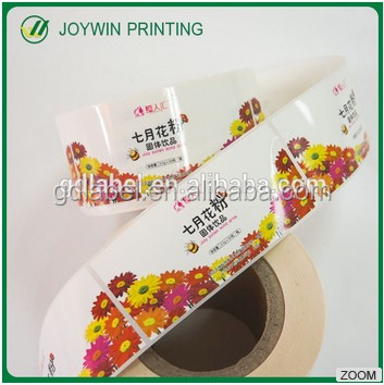 Custom Adhesive Waterproof Logo Sticker Labels,Colorful flowers Stickers with gloss lamination