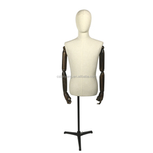 half-body male upper body fabric covered mannequin