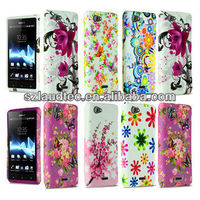 For Sony Xperia J ST26i Flower Printed Soft Silicone Gel Phone Case Cover NEW