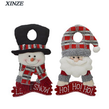 Christmas decorative door knob hanger snowman santa gift