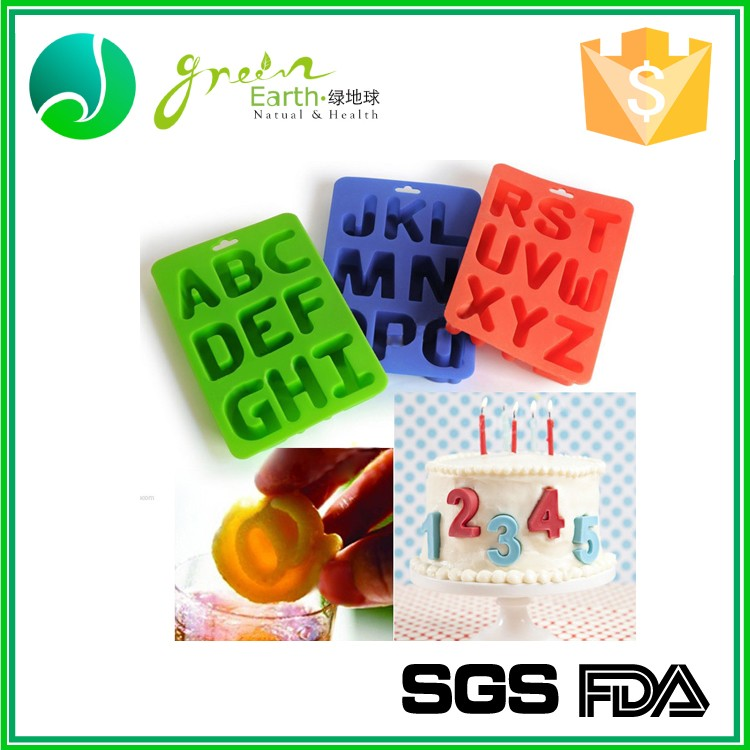 Food Grade High quality letter shaped tray,letter shape ice cube tray,silicon alphabet ice tray