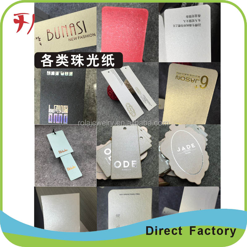 Professionally Printed ECO-Friendly Fold Hang Tags and Label In Apparel