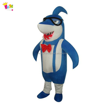 Cute Adult blue shark sea animal mascot costume for promotion show EM-123