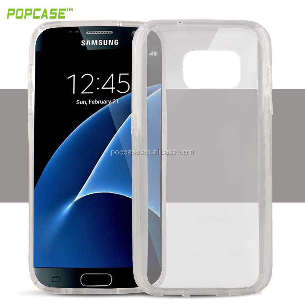 clear plastic protector case for samsung S7 case