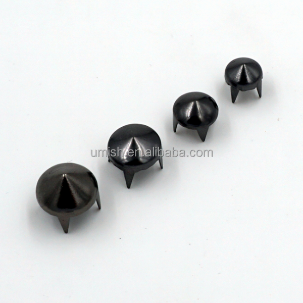Shiny Cone Sharp Star Pyramid Shape Metal Brass Stud Rivet for Leather