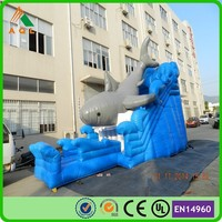 2015 Commercial inflatable slide,giant Inflatable shark slide lake inflatable water slide clearance for sale