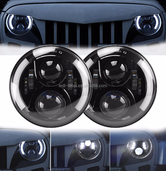 7 inch Sealed beam 10-30V DC hi/low beam 60w led headlight for J-eep