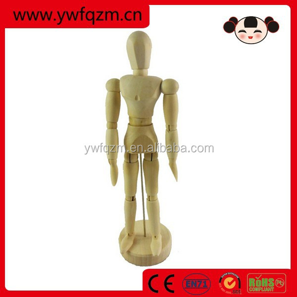 eco-friendly wooden japanese ball jointed doll