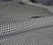100 cotton checked fabric black and white textile for garment