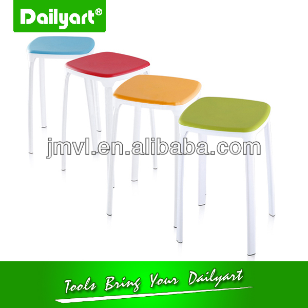(V052007) Colourful kitchen living room wooden bar table and stool