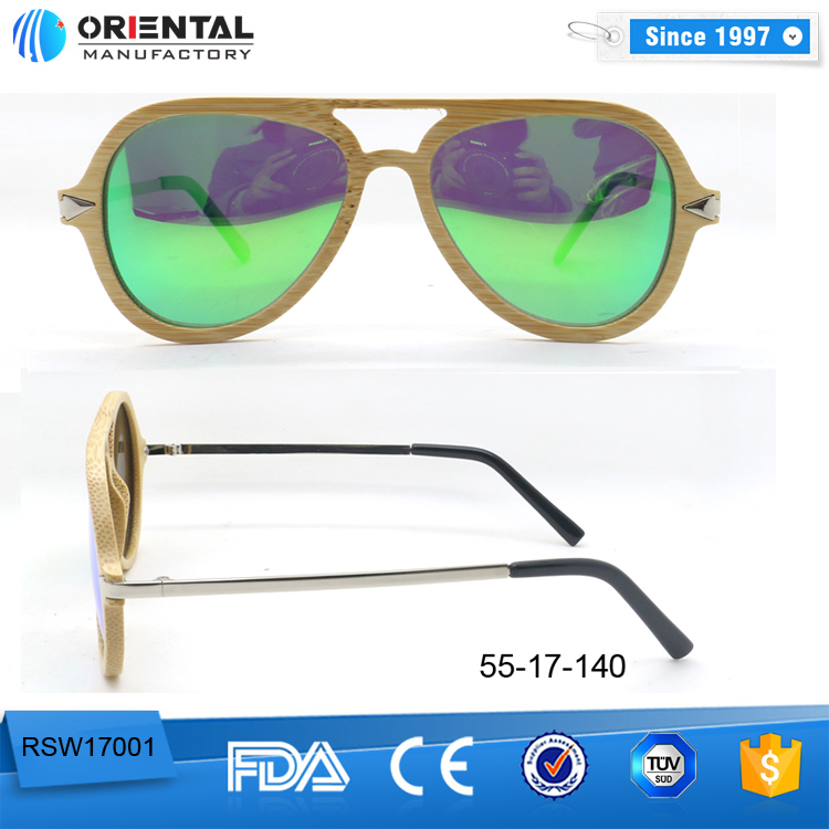 ORIENTAL High Quality Sunglasses Sun Glasses 2017 Wooden Sunglasses