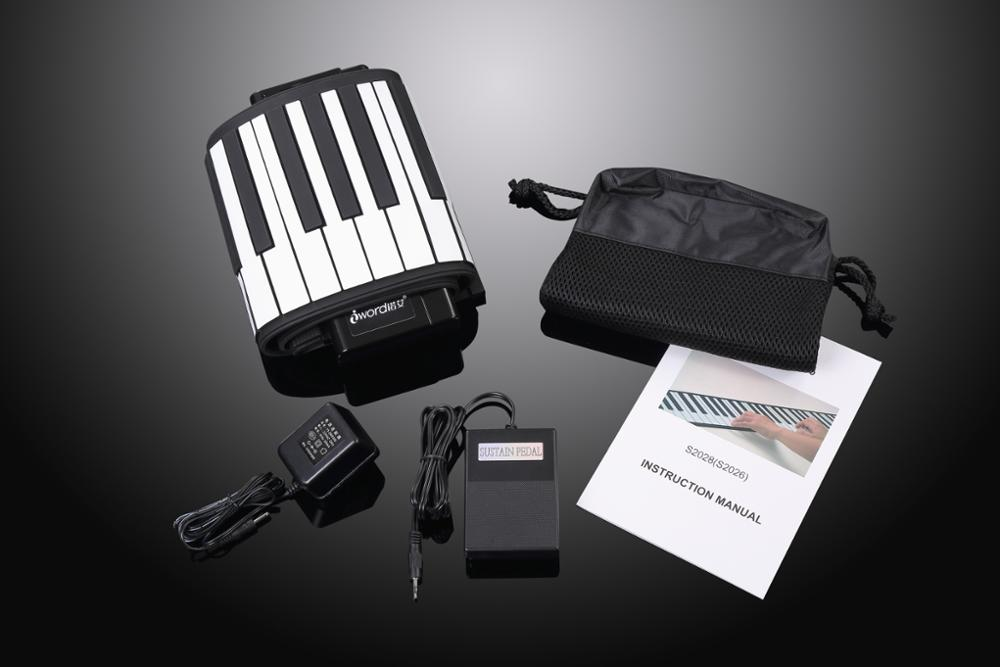 Digital portable 61 keys children piano tuning tools Silicon roll up piano with high quality
