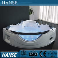 HS-B301 whirlpool bathtub size/ contemporary bathtub/ apron corner bathtub