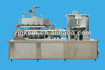2-in-1 automatic iron,aluminium can gas drink,soda water filling machinery