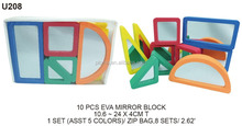10pc EVA foam mirror building block set educational toys for kids