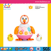 Huile toys cartoon cute wholesale toy plastic chickens with EN71