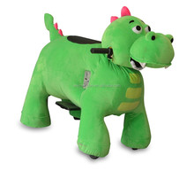 MZ59 stuffed rocking horse battery powered 4 wheel kid toy animal riding for party