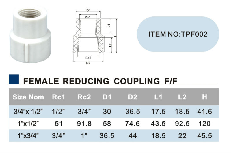 ERA BS standardBest Prices PVC Pipe Thread Fittings female elbow