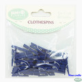 25mm Dark bule lovely decoration mini wooden clothespin small wooden clip