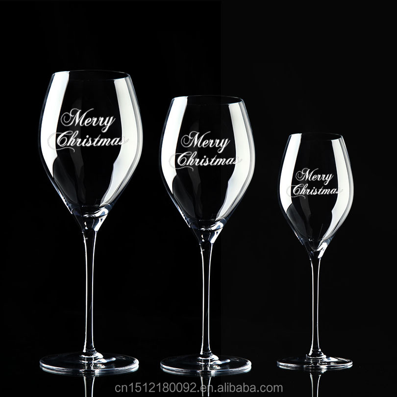 Glass promotion products etched wine glasses