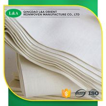 wholesale plain and ribbed 100% polyester white needle punched felts