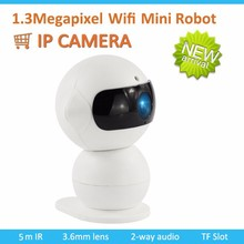 Funny And Good Quality 1.3Megapixel Mini Wifi Robot ip camera Fot House security